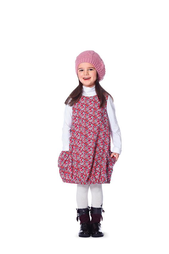 Schnittmuster Mädchenkleid, 3 Varianten, Gr. 92 bis 122 - Stoffeule ...