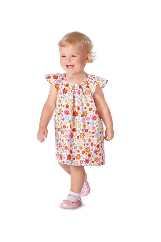 Nähpaket Mädchen-Kleid, für Burda-Schnitt 9435, Modell A, Gr. 68 bis ...