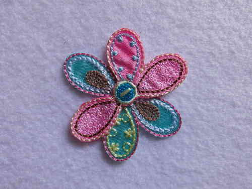 Applikation Blume 5 x 5cm